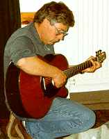 Geoff Durno Playing a Santas Cruz guitar - circa 1993