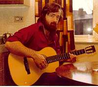 Steve McW Playing a Dinsdale guitar - Circa 1981